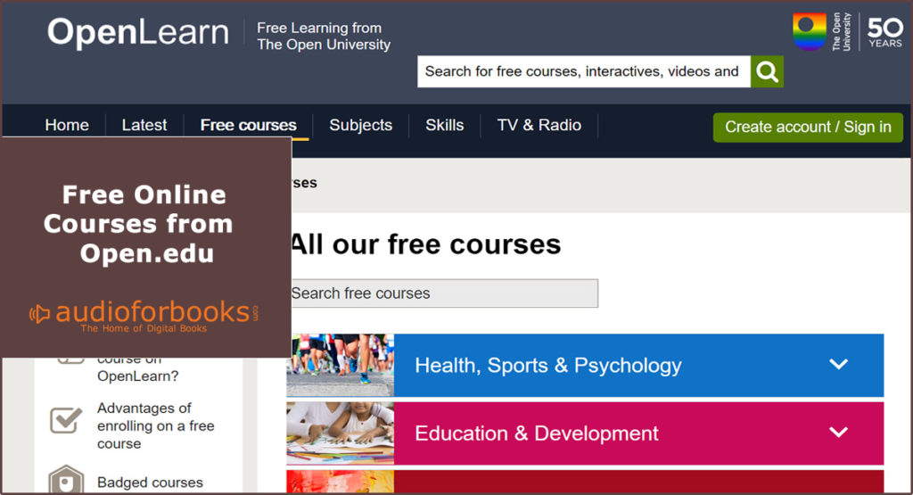Free online courses from open.edu