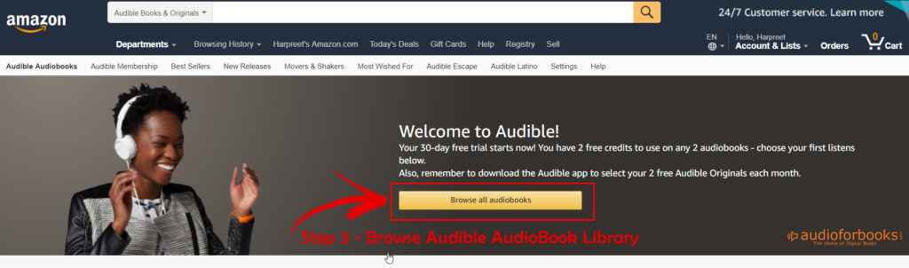 Audible AudioBook Library