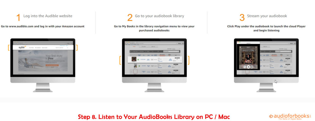 Audible Audiobooks on Computer Player