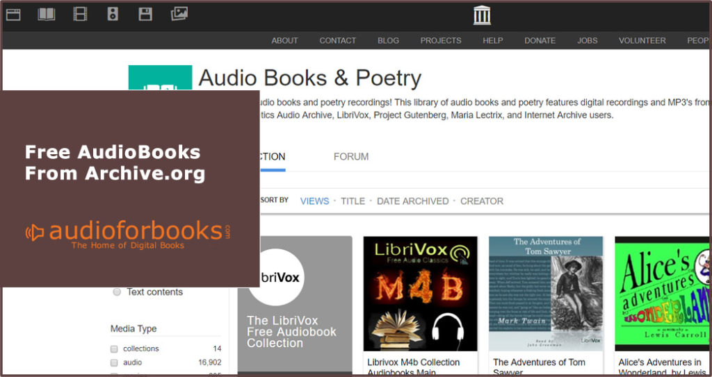 Free Audiobooks from archive.org