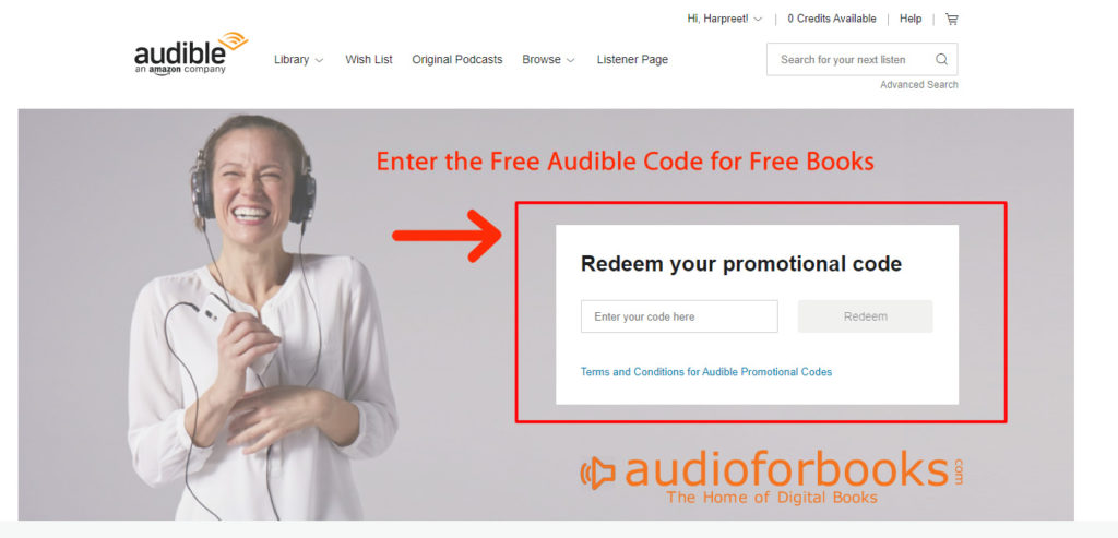 Free Audible Code