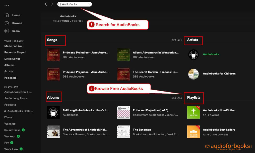 Audiobooks at Spotify